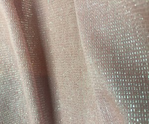 "60"" pink metallic knit"