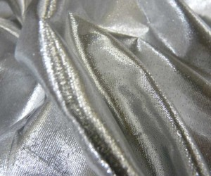 tissue lame silver 44""