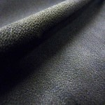 "56"" stretch black rayon crepe"
